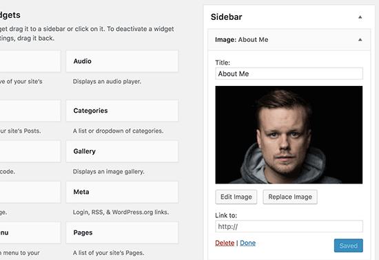 Add an Image Using The Image Widget in WordPress 3