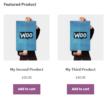 featured product shortcode