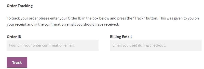 woocommerce order tracking