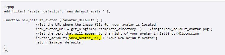 gravatar code