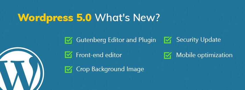 WordPress 5.0 features