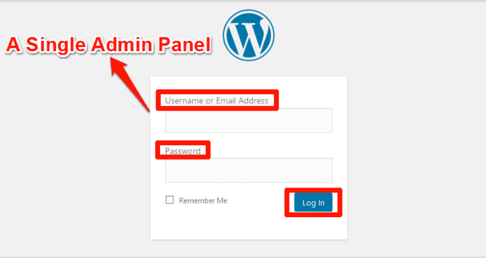 WordPress Support-Control Multiple Sites With A Single Admin Panel