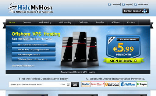 Hidemyhost offshore hosting