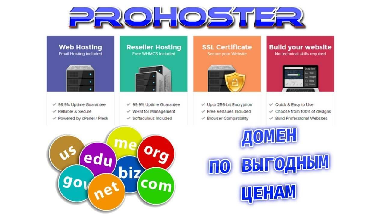 prohoster web hosting solution