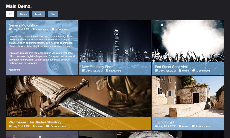 WordPress Zoomfolio Plugin