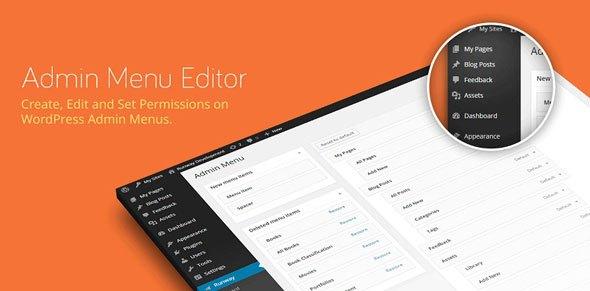 Admin menu editor WordPress plugin