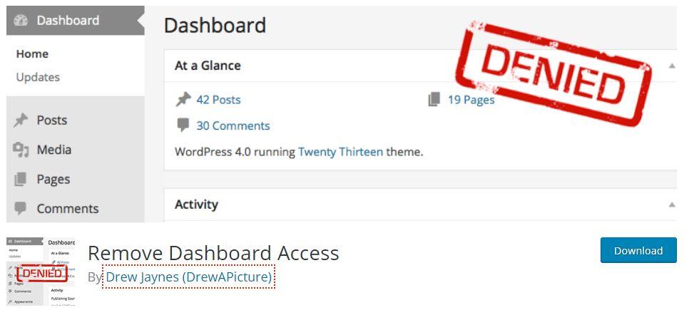 Remove-dashboard-access