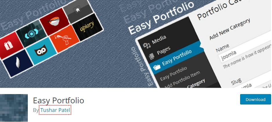 Easy portfolio plugin