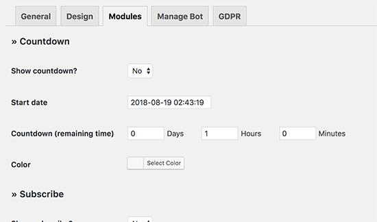 adding countdown timer
