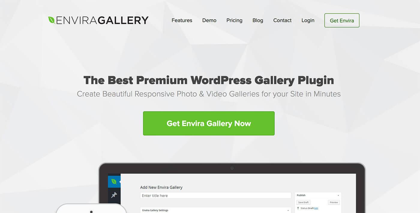 envira gallery homepage