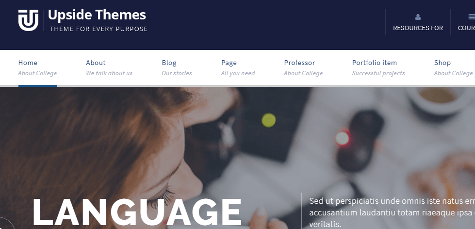 Upside multi purpose WordPress theme
