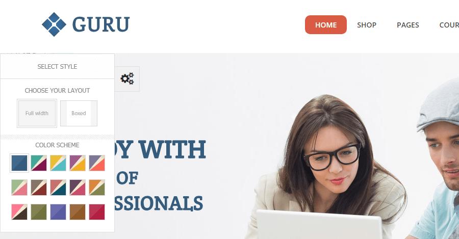 guru online course theme