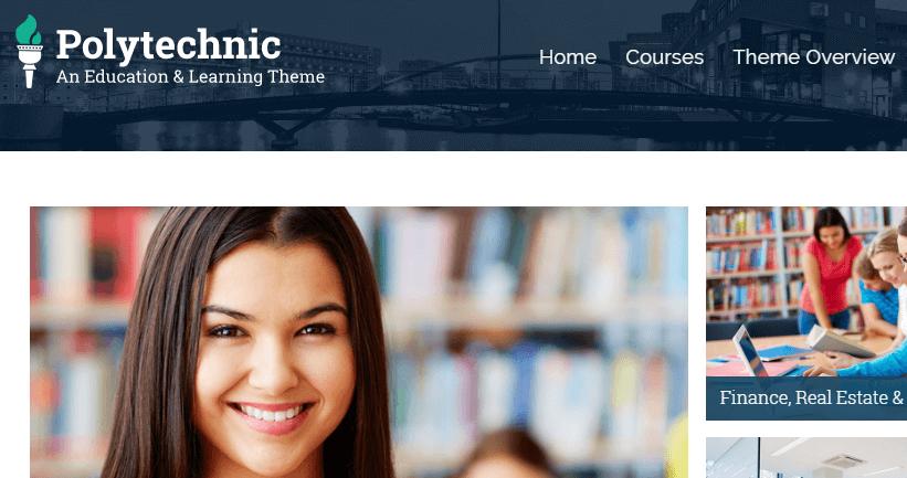 polytechinc university wordpress template
