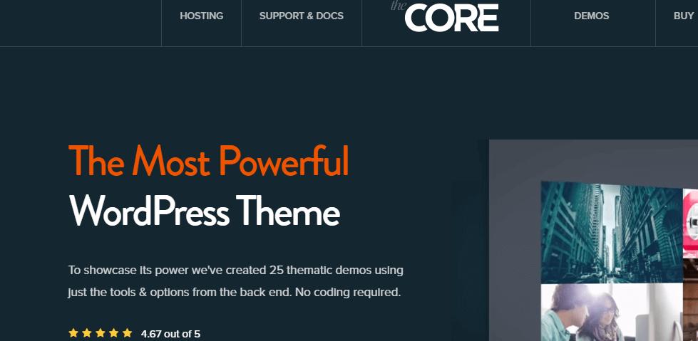 the core wordpress theme