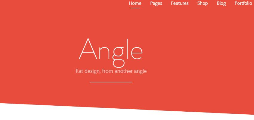 Angle busieness theme
