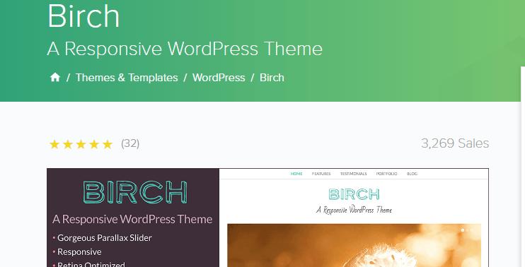 Birch business theme