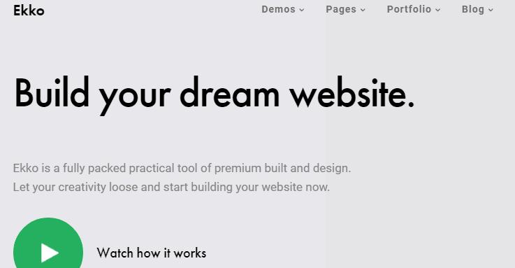 Ekko wordpress business theme
