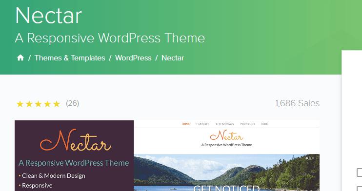 Nectar WordPress theme