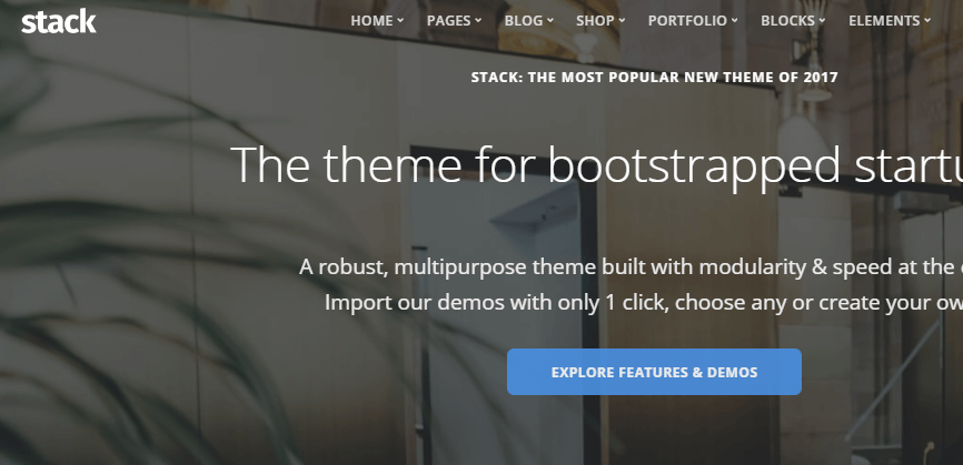 Stack WordPress themes for business