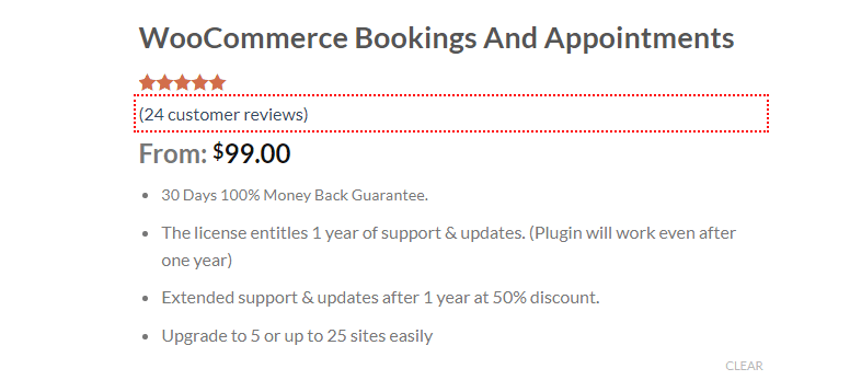Woocommerce booking and appointments