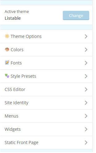 WordPress Listable theme customization option (1)