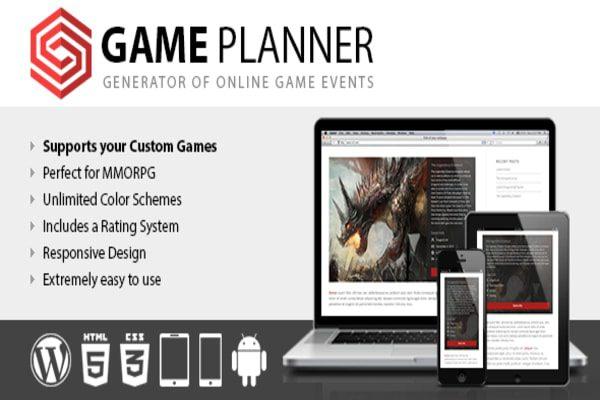 Game planner - Event planner plugin