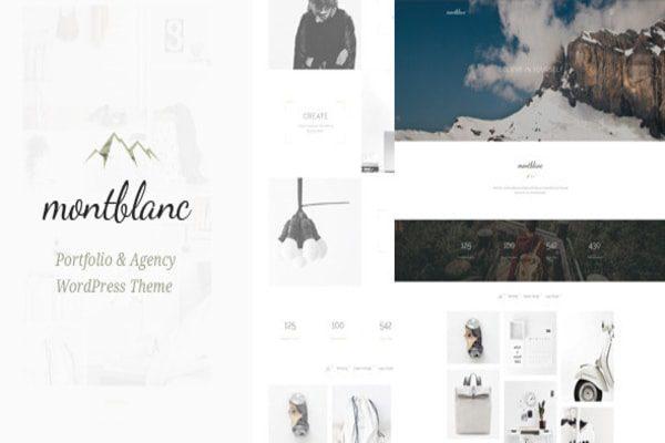 Montblanc creative WP theme