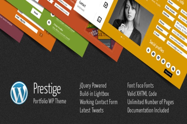 Prestige WordPress Portfolio theme