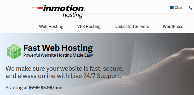 inmotion hosting hosting and domain provider