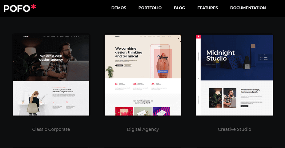 WordPress pofo theme