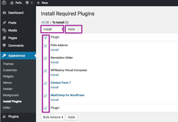 install required plugin
