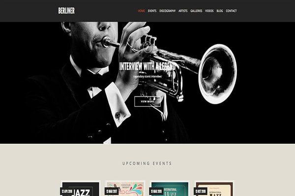 Berliner music theme for WordPress