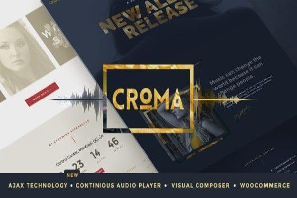 Croma music WordPress theme