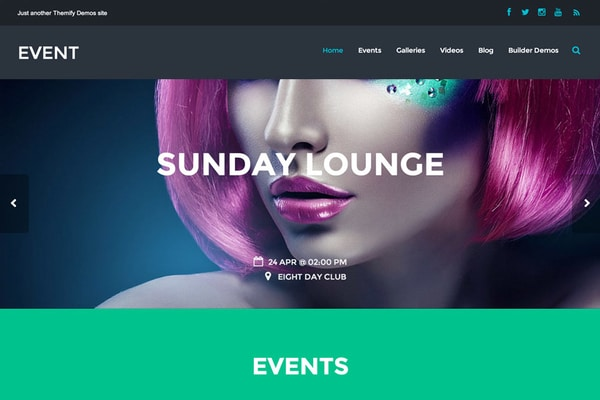 Event WordPress theme for musicians & performers