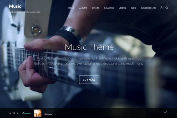 Music, Best WordPress Themes For Musicians