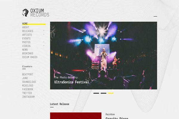 Oxium music WordPress theme
