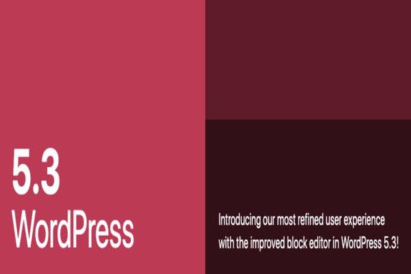 WordPress 5.3, a new version